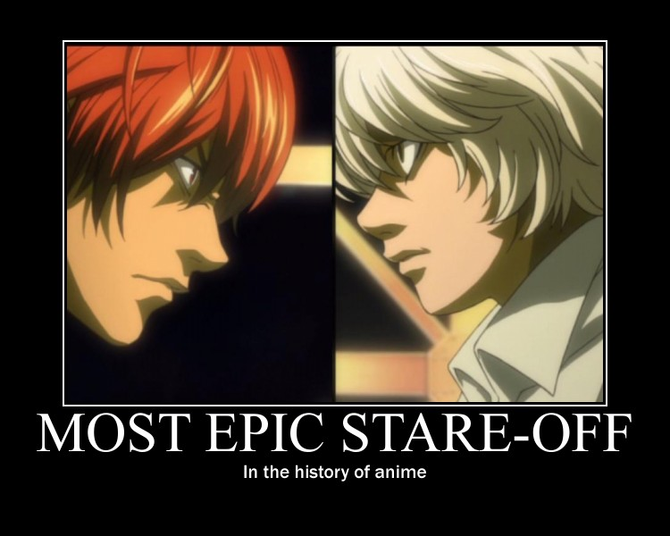 Death Note Stare Off by Clive4everLegal - death_note_stare_off_by_clive4everlegal-d4zp8uv