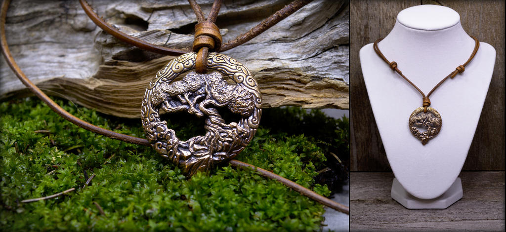 Bronze Tree Of Life Pendant by Cloud-Dragonz