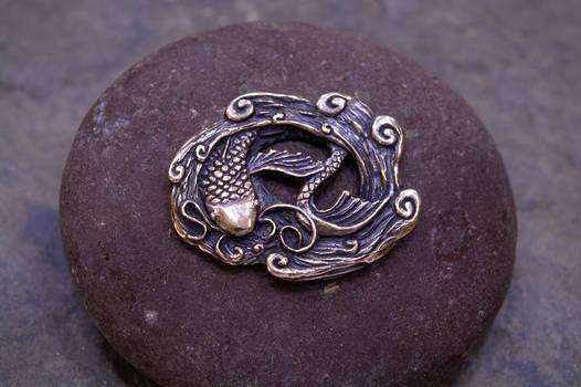 Koi fish button