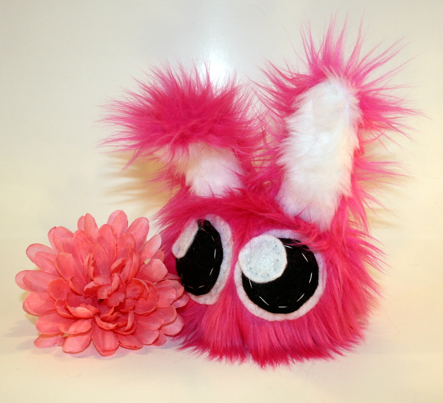 little pink dust bunny by Jadetiger