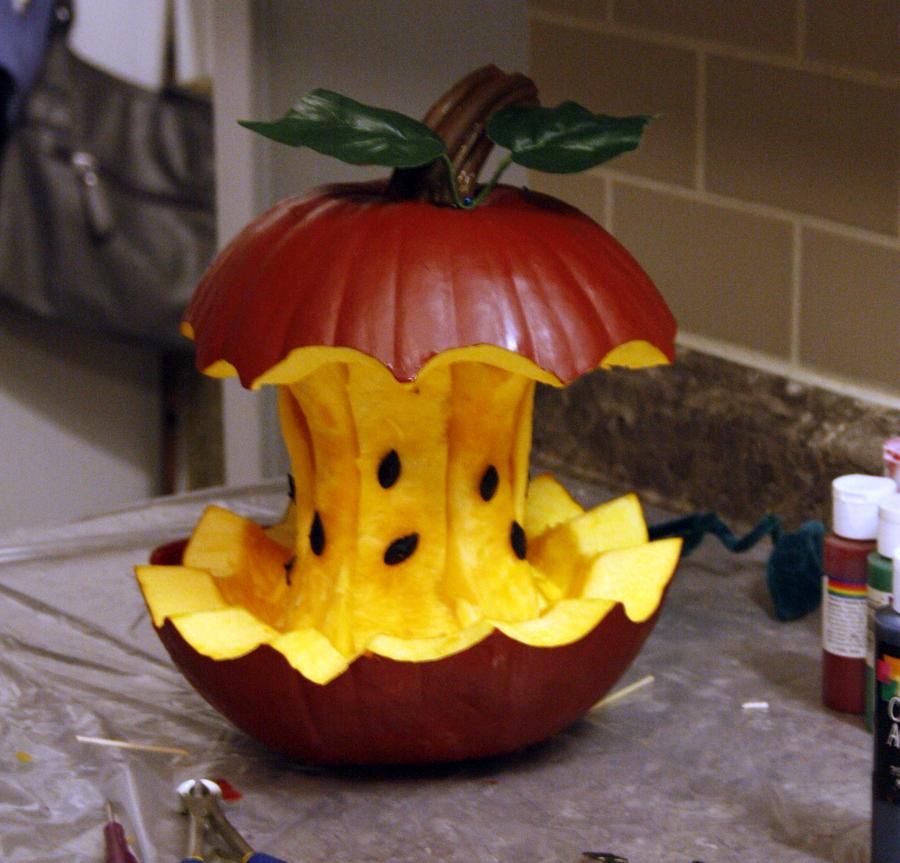 recipe: apple pumpkin carving [5]