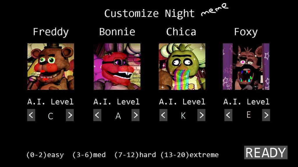 For Fun FNAF Custom Night Meme By Hungergames1226