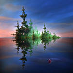 Fishing on a Fractal Swamp