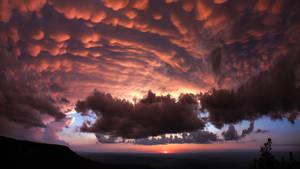 Sunset on Magazine Mountain