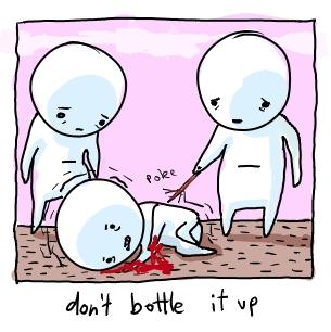 don't bottle it up. by boobookittyfuck