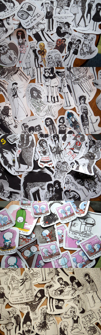 etsy stickers on sale now. by boobookittyfuck