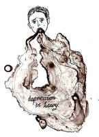depression is heavy.