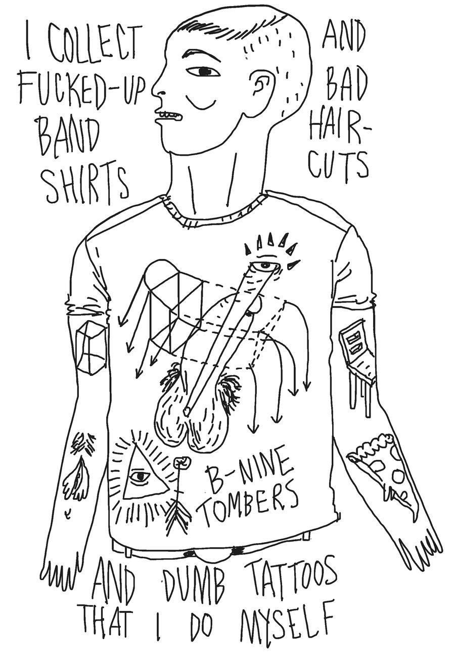 shirts/haircuts/tattoos. by boobookittyfuck