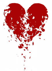crumbling heart design. by boobookittyfuck
