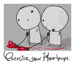 exercise your heartpups.