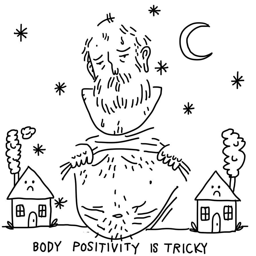body positivity is hard by boobookittyfuck