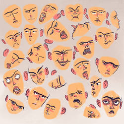 100 expressions, close-up 1