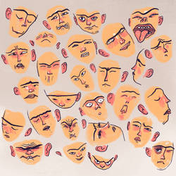 100 expressions, close-up 2