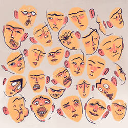 100 expressions, close-up 3