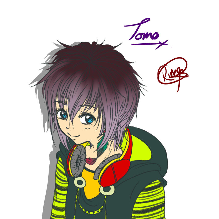 Tomo's true hair colour?! by Violet-Eyed-Angel