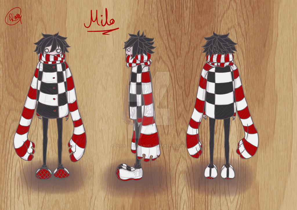 Milo - Character turnaround sheet. by Violet-Eyed-Angel