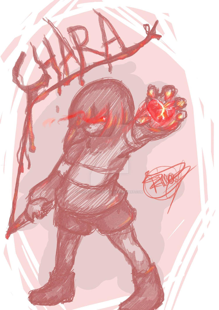 Chara: No Mercy. by Violet-Eyed-Angel