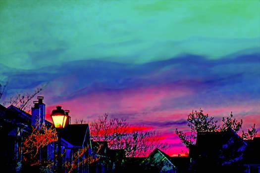 colorful sky in spring