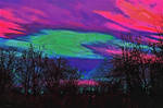 Color swirl sunset