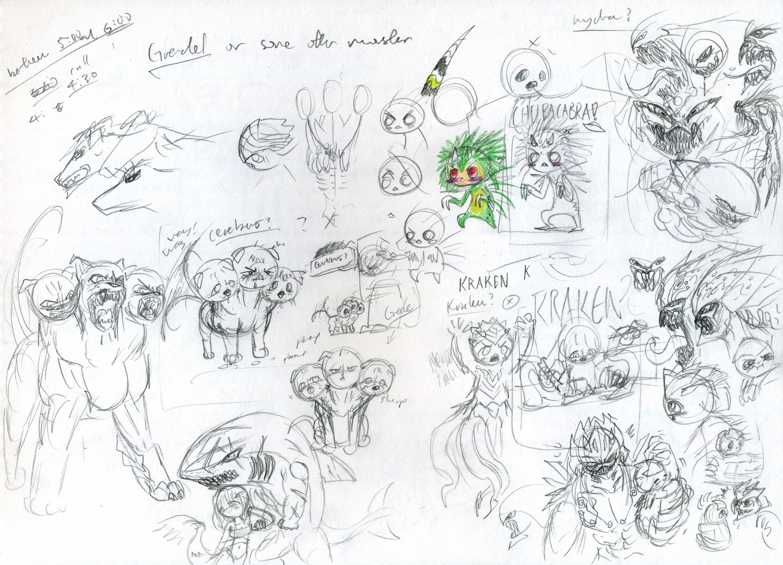 Shirt design sketches -  Cute Monster Shirt Design Sketches 2 By Kaz102