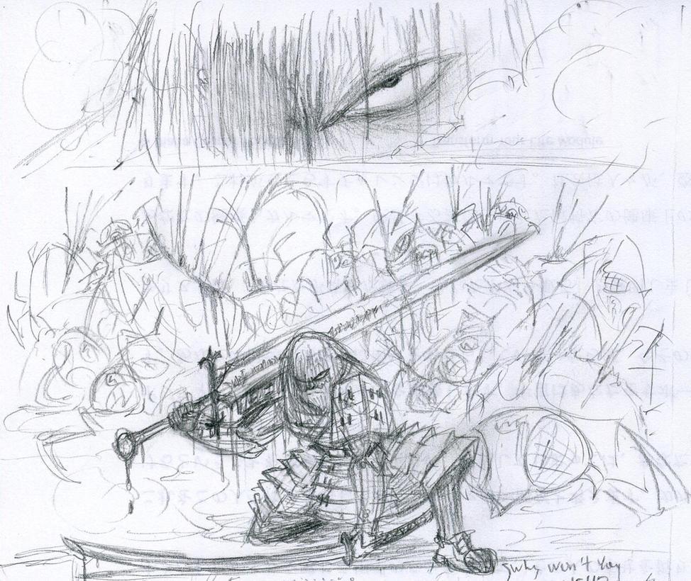 Jack Going Berserk (sketch) By Kaz102 On DeviantArt