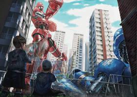 Rockem' Sockem' Robots by R-Tan
