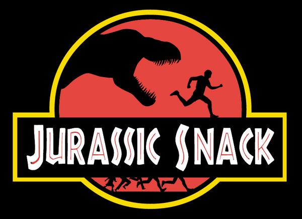 Jurassic Snack logo by jeffmcdowalldesign
