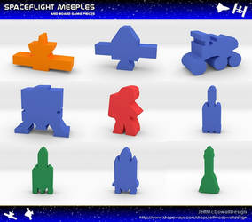 Spaceflight Meeples and Game Pieces