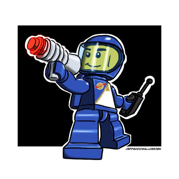 Lego Spaceman by jeffmcdowalldesign