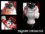 spider web  lolita hat skull