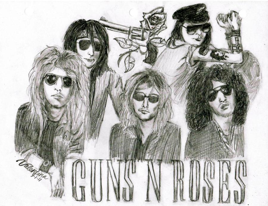 Guns N' Roses group portrait by VRocketQueen