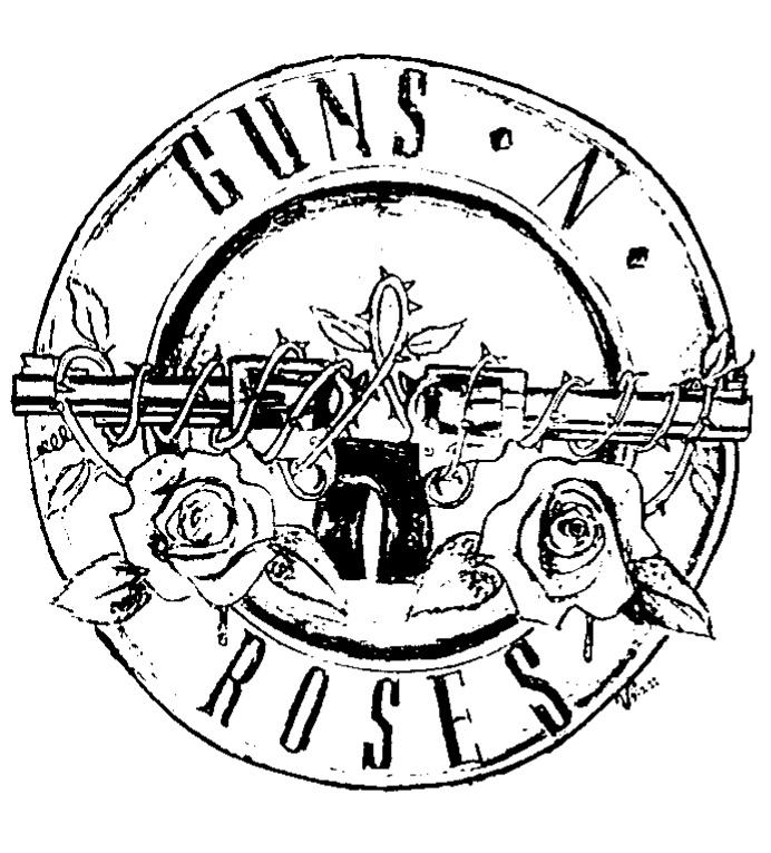 Guns N' Roses logo :: INKSTAMP EDIT by VRocketQueen on