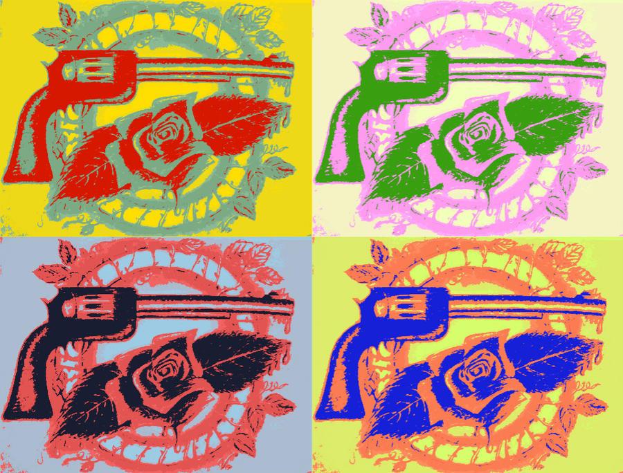 Guns N' Roses Logo redesign [POP-ART EDIT] by VRocketQueen