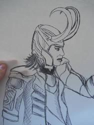 Loki pen boredom sketch by dark-chocobo
