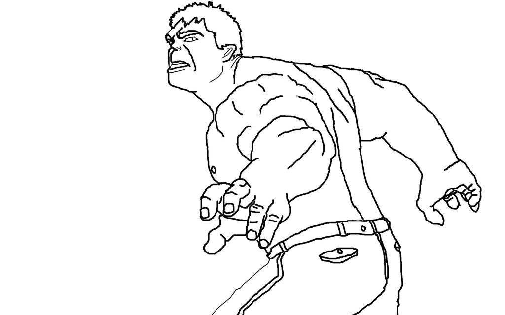 Hulk Line art by darkchocobo on DeviantArt