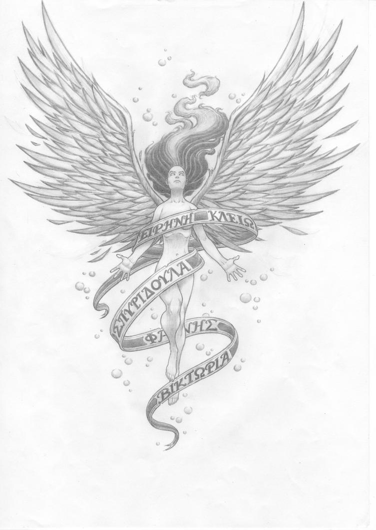 Fallen Angel Tattoo Designs Free