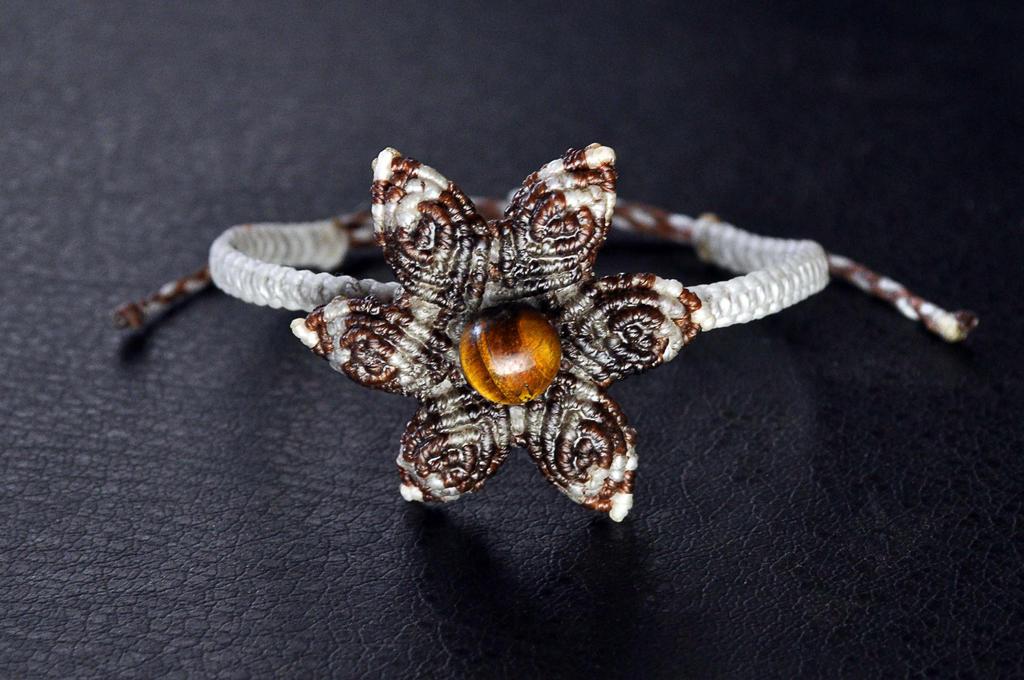 Macrame Brown Flower by MandrakePunk