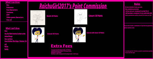 RaichuGirl2017's Art Point Commission [Open] by RaichuGirl2017