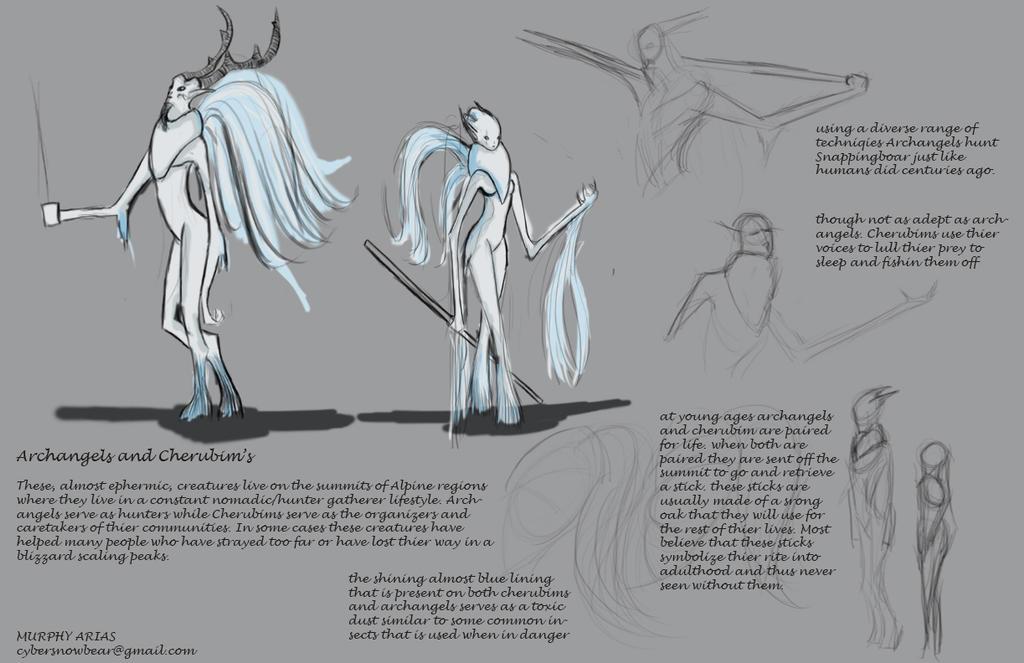 Archangel And Cherubim by CyberSnowBear