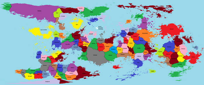 Political World Map of the Emperor's Daemon