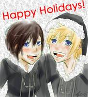 XionXRoxas -- Happy Holidays by MiniMiniYame