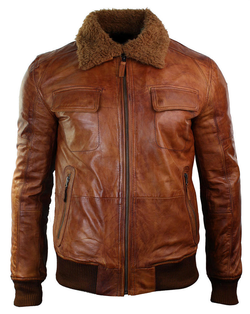 Men's B3 Bomber Tan Brown Jacket by CosplayCostume