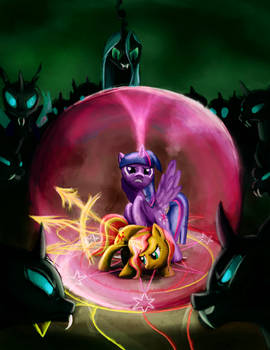 Twilght and Sunset vs. the Changelings