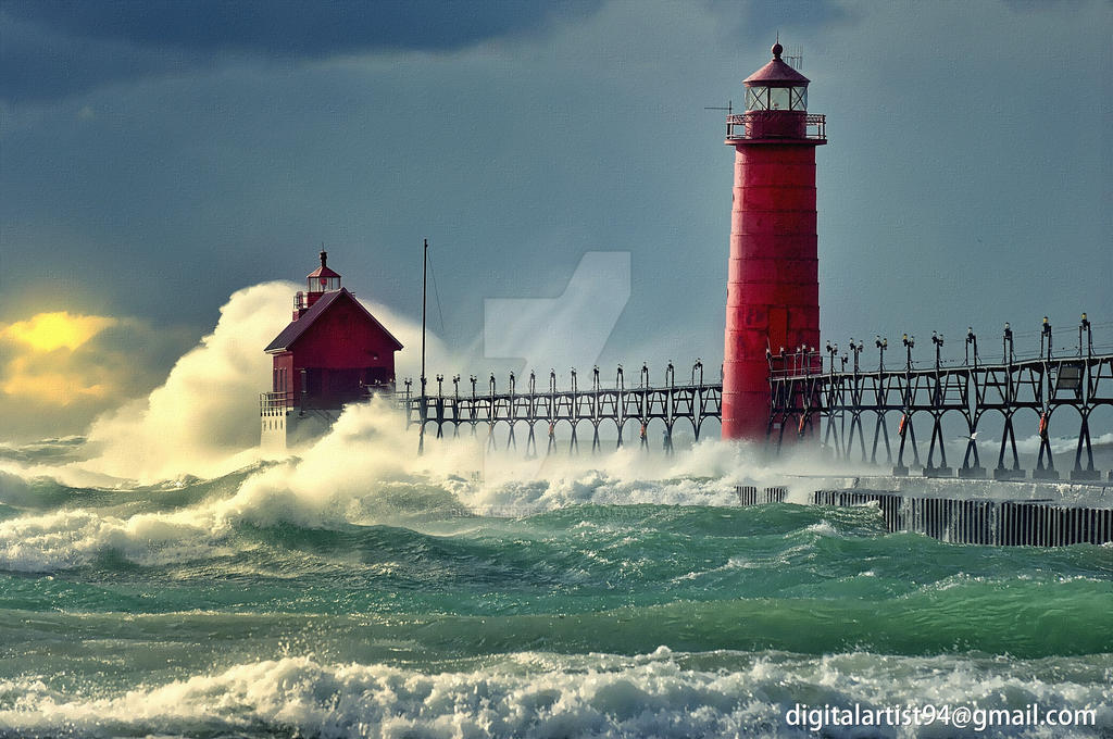 lighthouse porthcawl pier huge - HD1920×1275