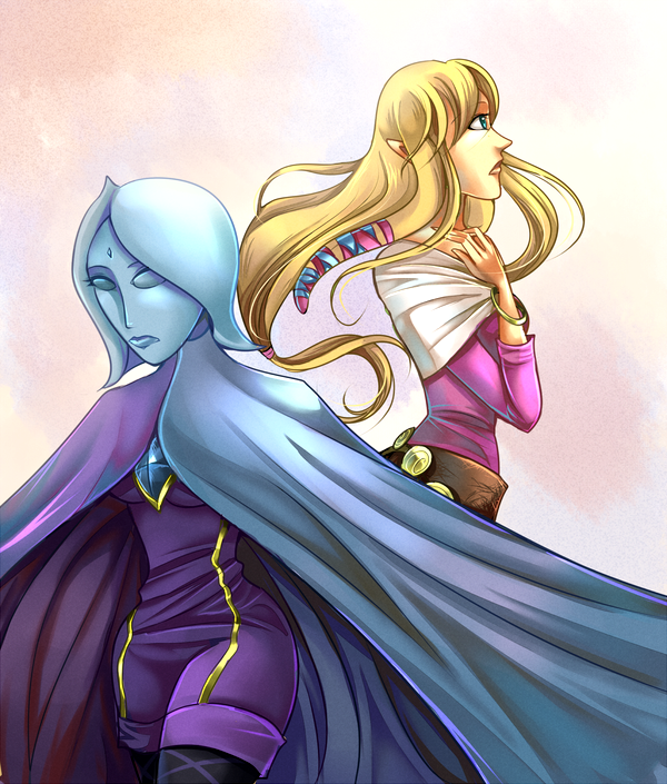 Fi and Zelda by ChocolaPeanut