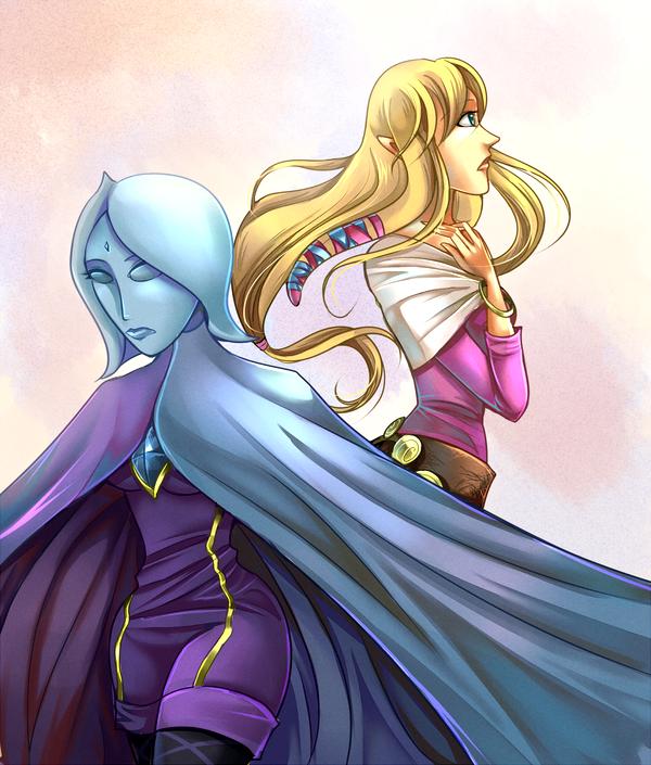 Fi and Zelda by ChocolaPeanut
