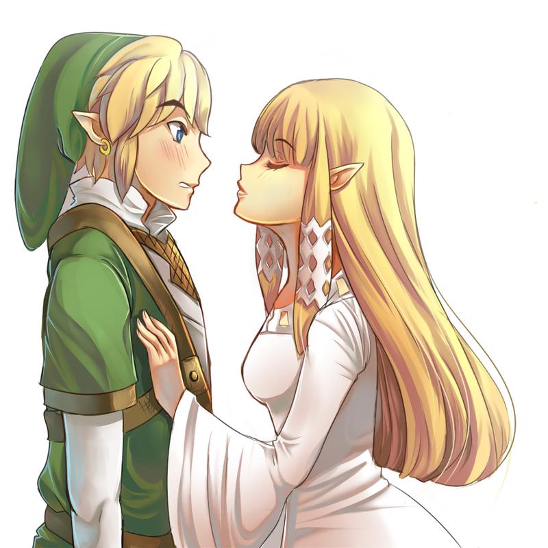Collab - Link x Zelda by ChocolaPeanut