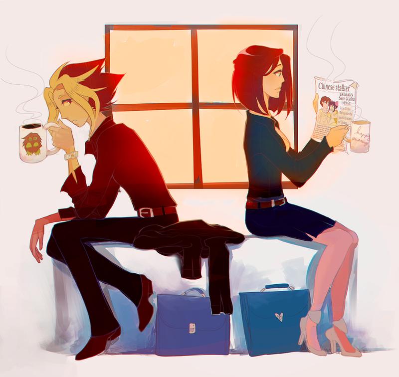 morning coffee by ChocolaPeanut