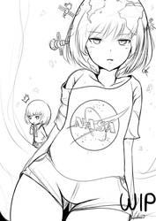Earth-chan sketch by AtelierAstraea