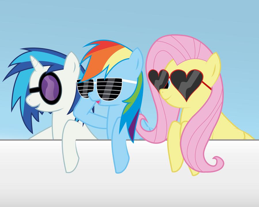 Vinyl Scratch Glasses Vector Rainbow Dash, Vinyl Sc...